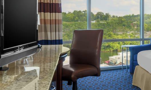 Desk, Chair, Window