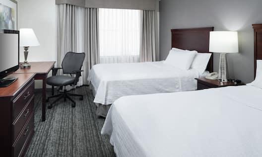 Accessible Double Queen Bed Guestroom Suite