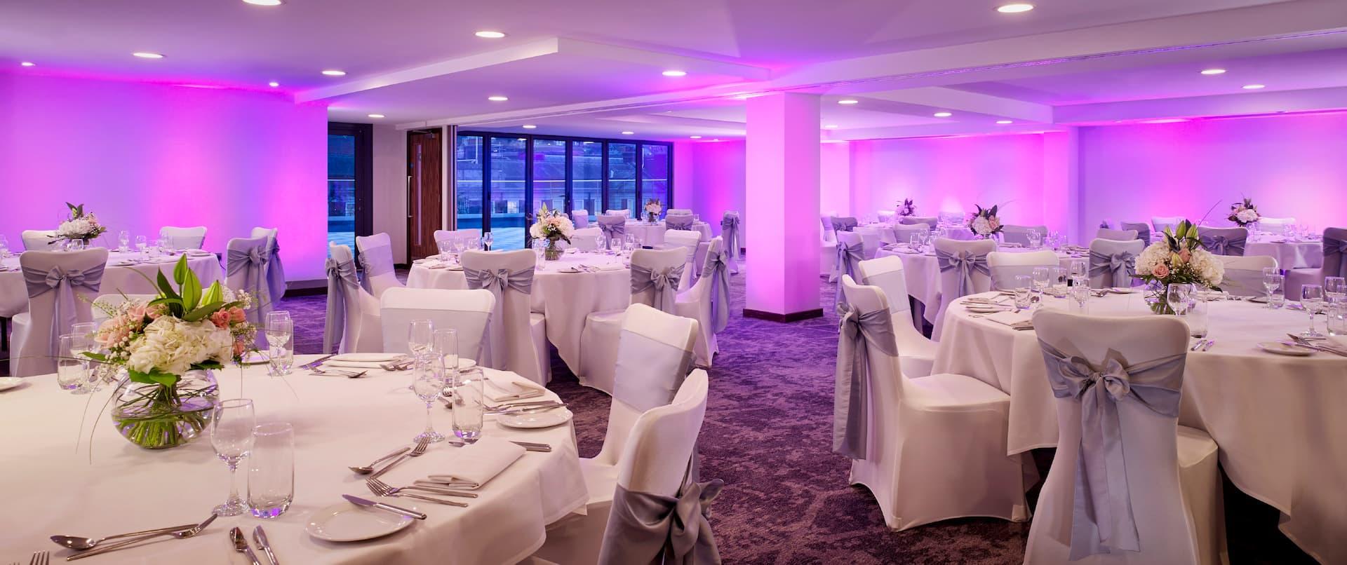 Aspen suite setup for a banquet