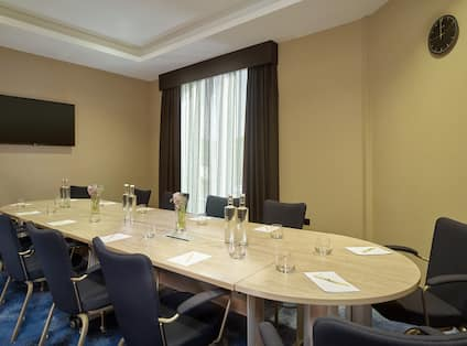 Boardroom with HDTV Set up for Meeting