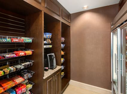 Snacks and Convenience Items Available for Guest Purchase at Pavilion Pantry