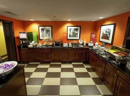 Breakfast Area with Food Selections