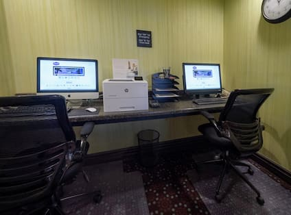 Business Center with 2 Computers and a Printer