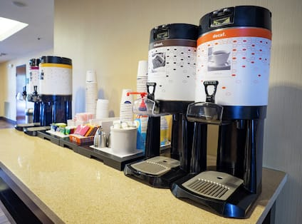 Coffee and Tea Service in Lobby Area