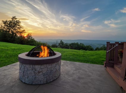 Outdoor Firepit at Sunset