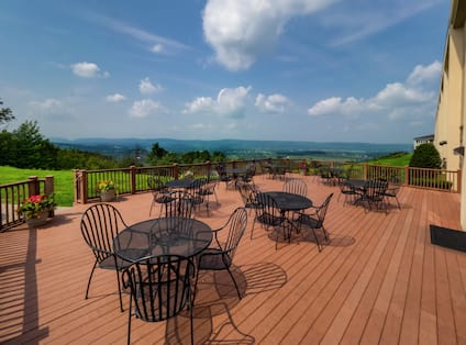 Outdoor Patio Area with Tables and Chairs