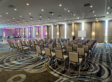 Ballroom with Theater and Banquet Setups