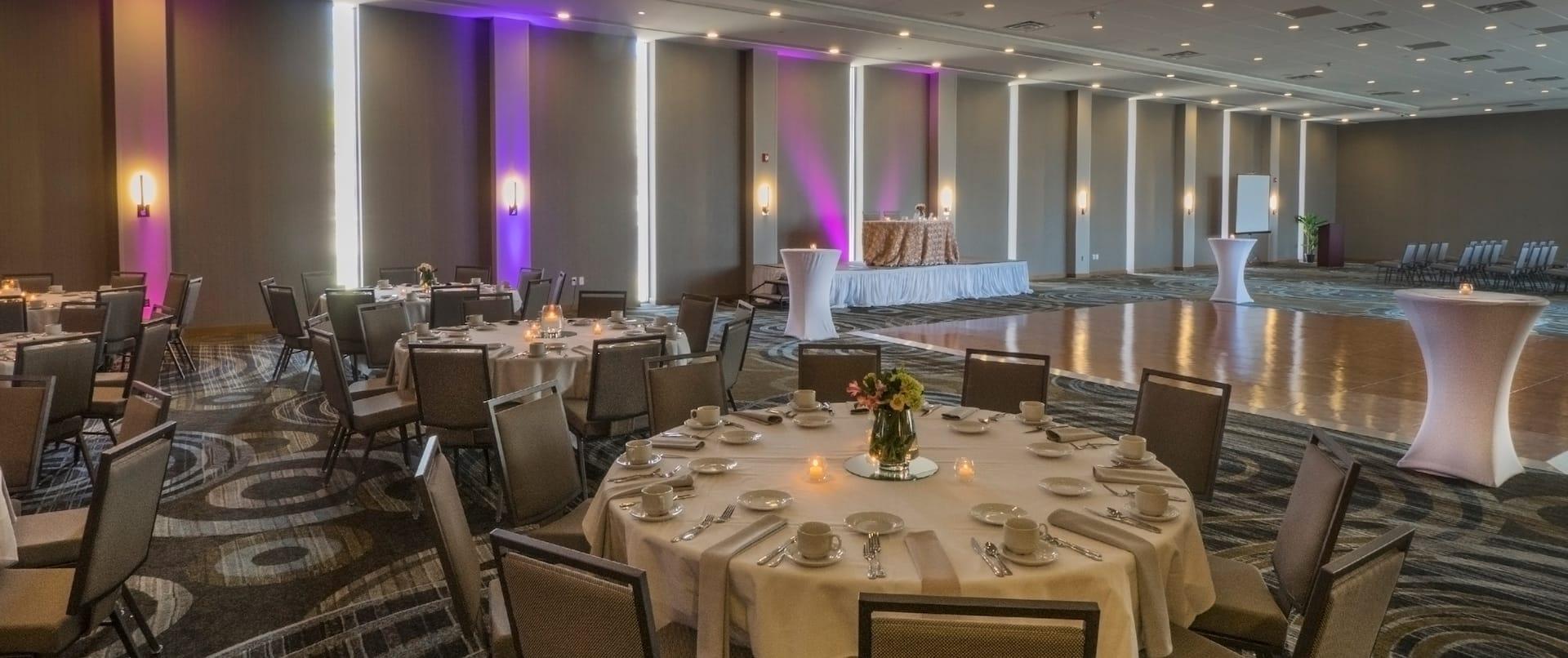 Ballroom in Wedding Setup with Dance Floor