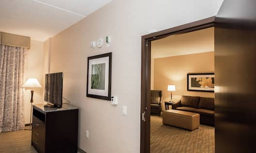 Accessible Suite Living Room Area