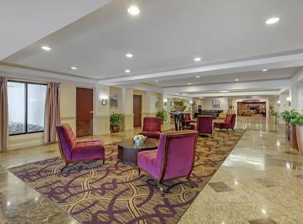 Lobby Area with Seating and Outside View