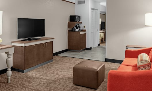 Double Queen Suite Living Area