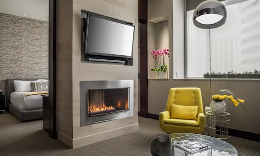 Suite Living Room with Fireplace