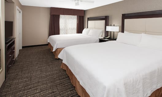 Two Double Beds in Room