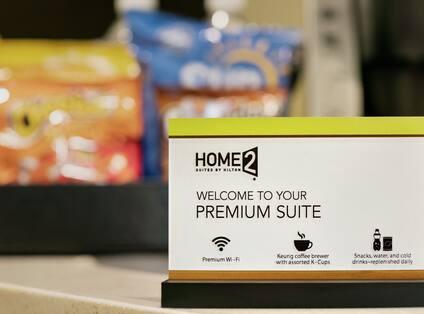 Home2 Premium Studio Suite Amenities Card