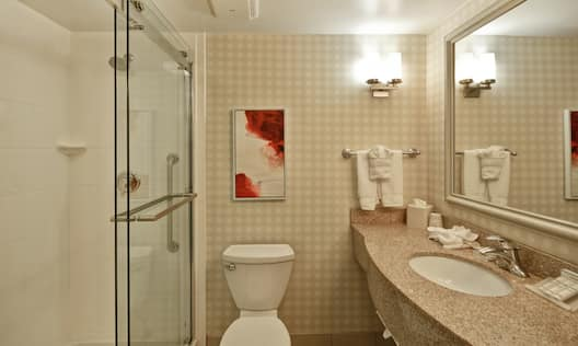 Standard Guest Bathroom with Walk-In Shower