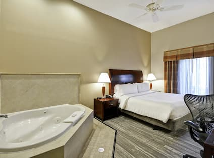 Accessible King Guestroom with Bed and Work Desk