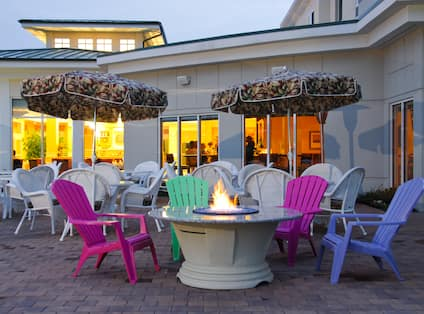 Firepit on the Patio Terrace