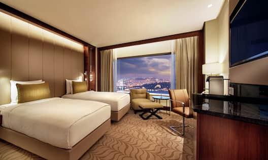 Double Single Bed Hotel Guestroom