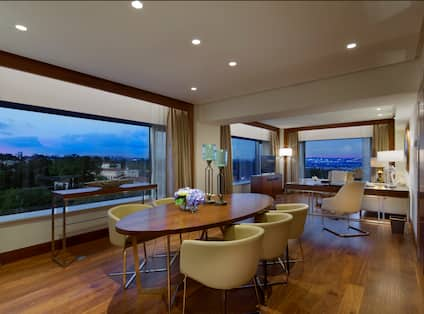Grand Deluxe Bosphorus Suite Living Area with Dining Table
