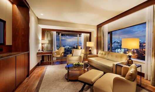 Park Suite Living Area with Balcony