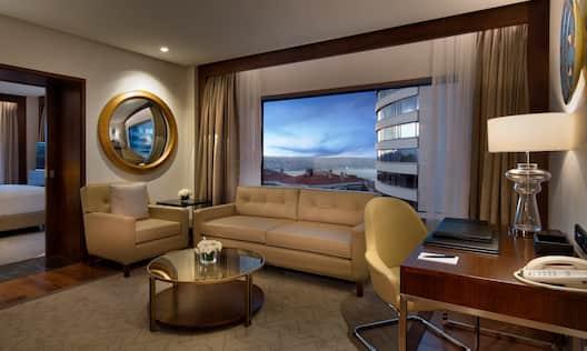 Park Suite Lounge Area and Desk