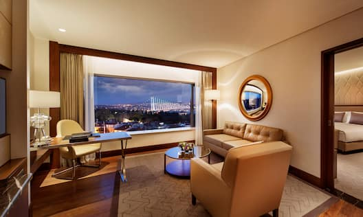 Bosphorus Suite Living Area with City View