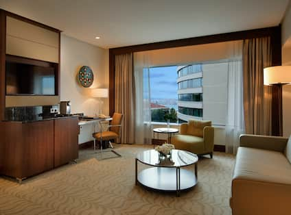 Suite Living Area with Desk