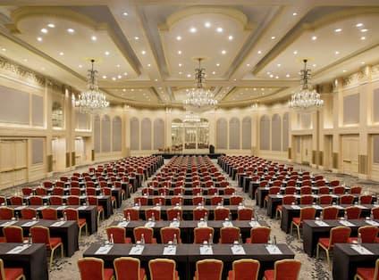 Large Ballroom Set Up Classroom Style