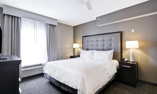 King Bed in Guest Bedroom