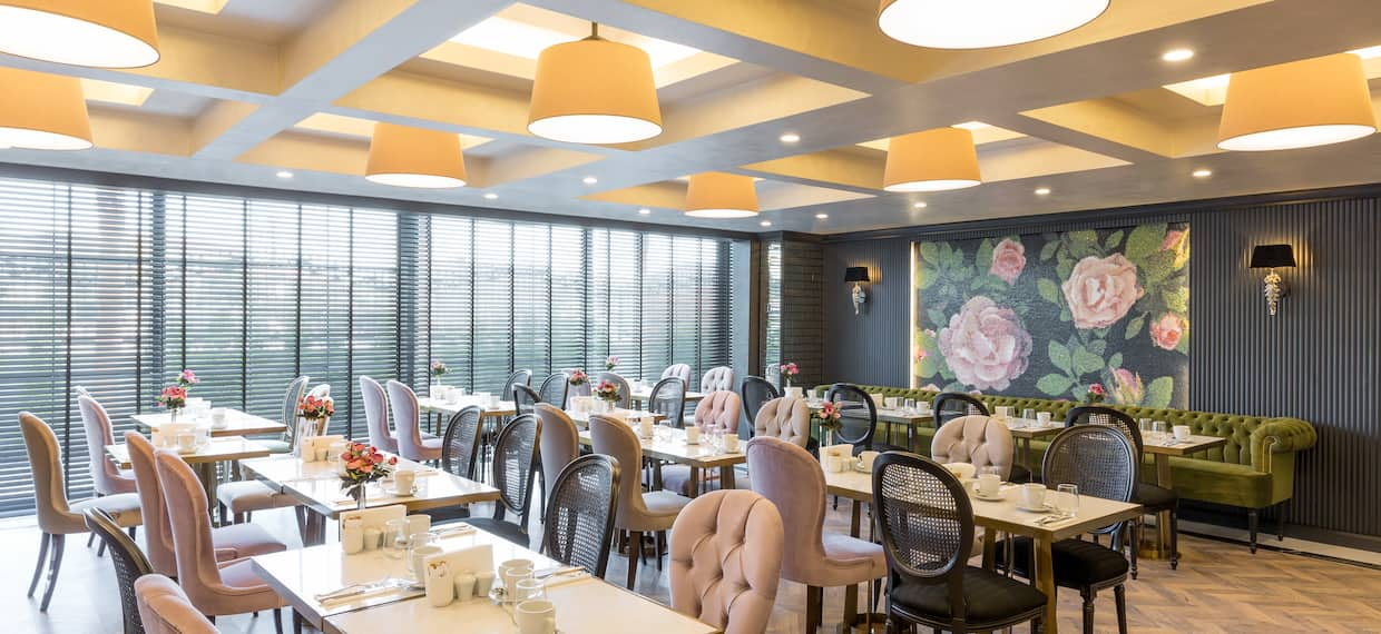 Restaurant Dining Area with Seats and Tables
