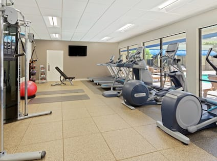 Fitness Center Cardio and Weight Equipment