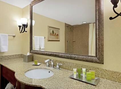 Standard Guest Bathroom Vanity with Amenities