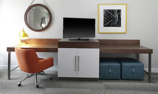 Work Desk in Hotel Room