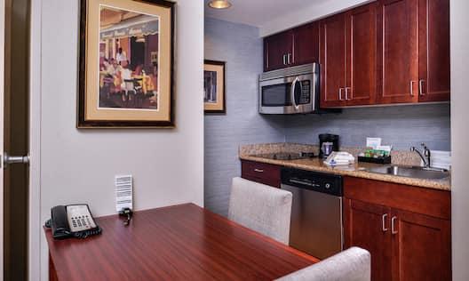 Kitchenette in One Bedroom Suite