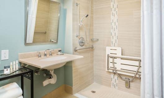 ADA Bathroom Roll-In