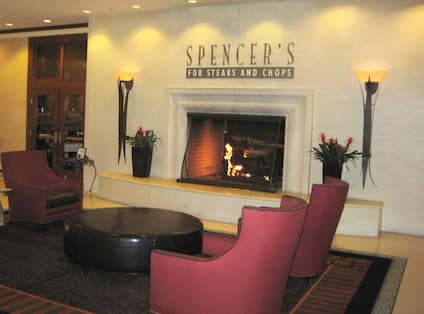 Restaurant fireplace area