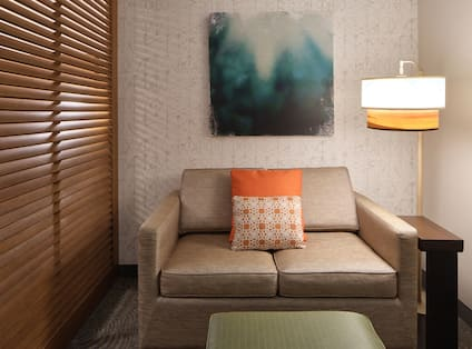 Sofa and Lamp in Guest Room