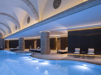 Spa Indoor Pool Area With Seating