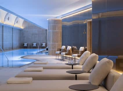 Spa Indoor Pool With Loungers