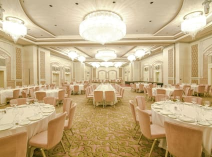 Grand Ballroom set up for wedding reception