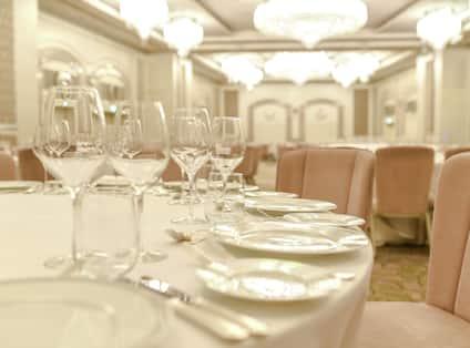 Grand Ballroom set up for wedding reception