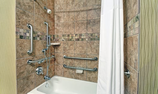 Accessible Shower Tub with Handrails