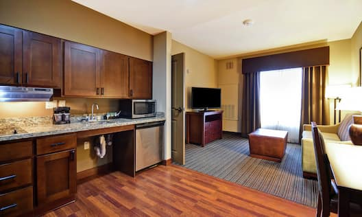 Suite Kitchen and Living Area