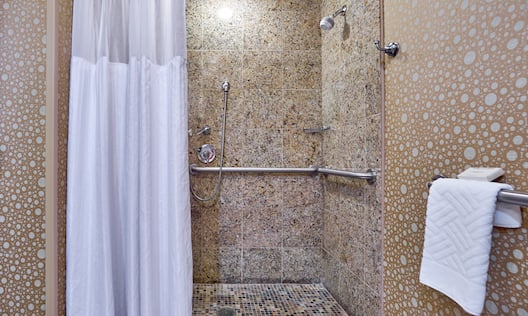 Accessible Bath, Roll-In Shower