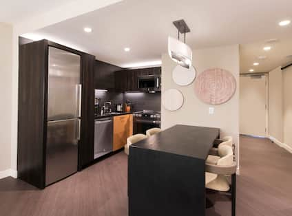 Accessible Suite with Kitchen and Dining Area