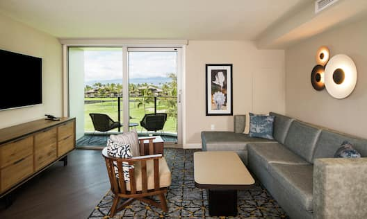 Resort View Suite Living Area