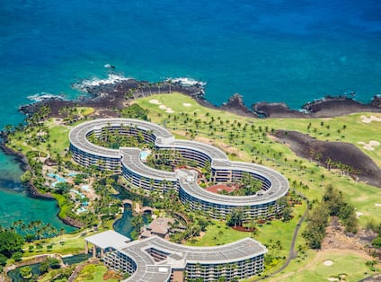 Aerial View of Hotel Exterior and Ocean
