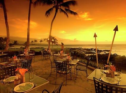 Sunset from the Kamuela Provision Company Lanai