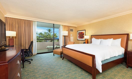 King Suite with Bed, Lounge Area, Outside View, Work Desk, and Room Technology