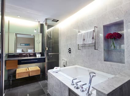 Guest Bathroom with Shower and Tub